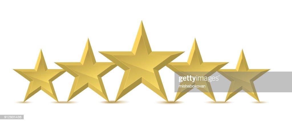 Five golden star