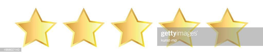 Five golden stars