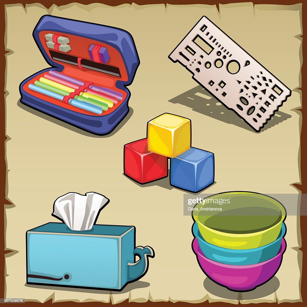 Five image, set and tools of the first grader