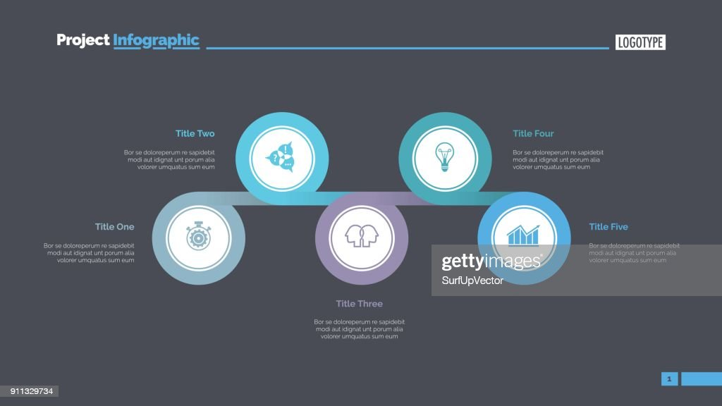 Five Linked Circles Slide Template