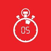 five minute stop watch countdown