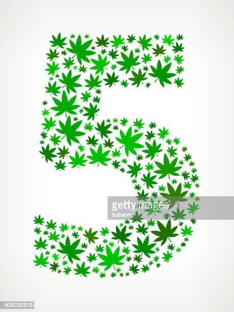 five on marijuana royalty free vector art pattern - marijuana leaf text symbol stock illustrations, clip art, cartoons, & icons