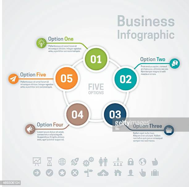 Business Infographic 5 つのオプション