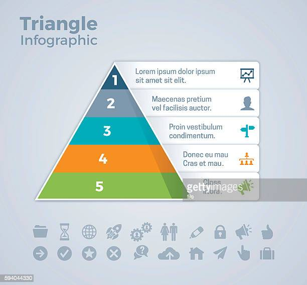 Five Option Triangle Infographic