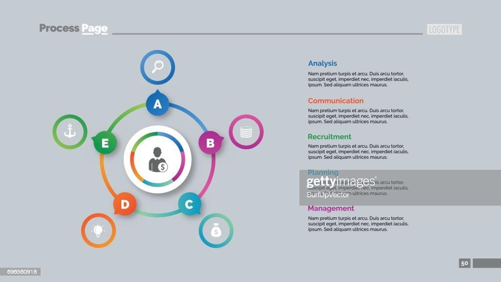Five Options Circles Slide Template