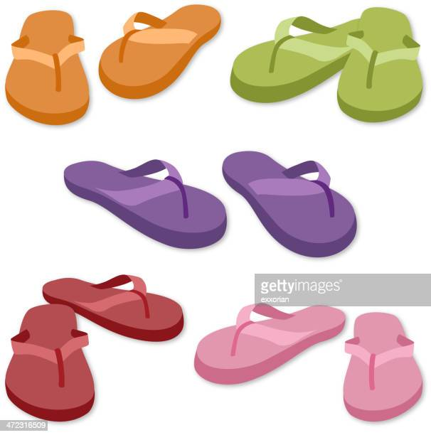 Five Pairs of Colorful Flip-Flop