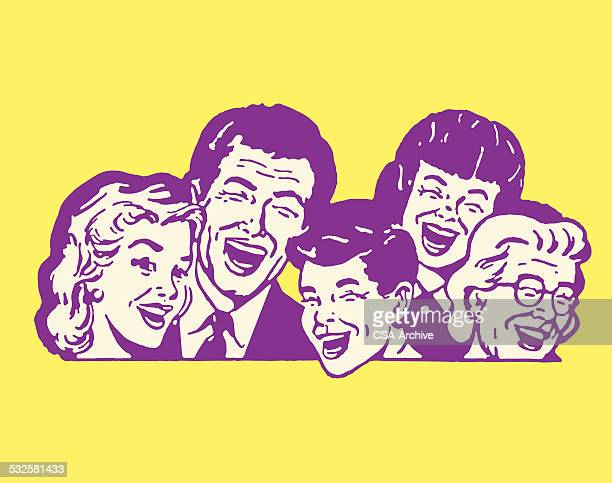 five people laughing - laughing stock illustrations, clip art, cartoons, & icons