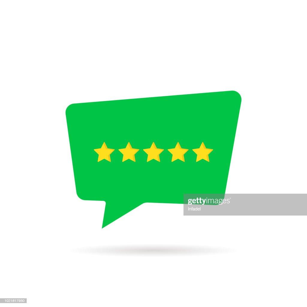 five rating star like positive feedback