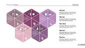 Five Segmented Hexagons Slide Template