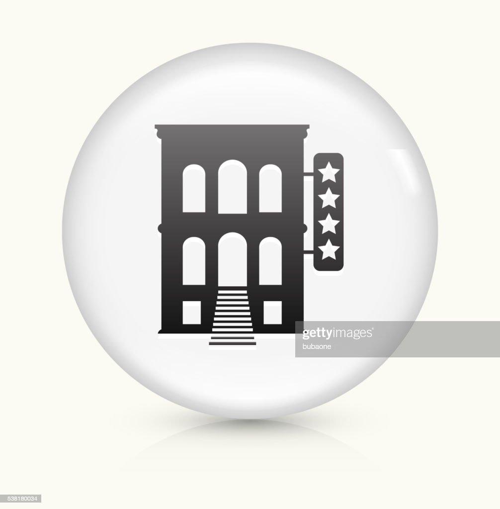 Five Star Hotel Icon On White Round Vector Button Art