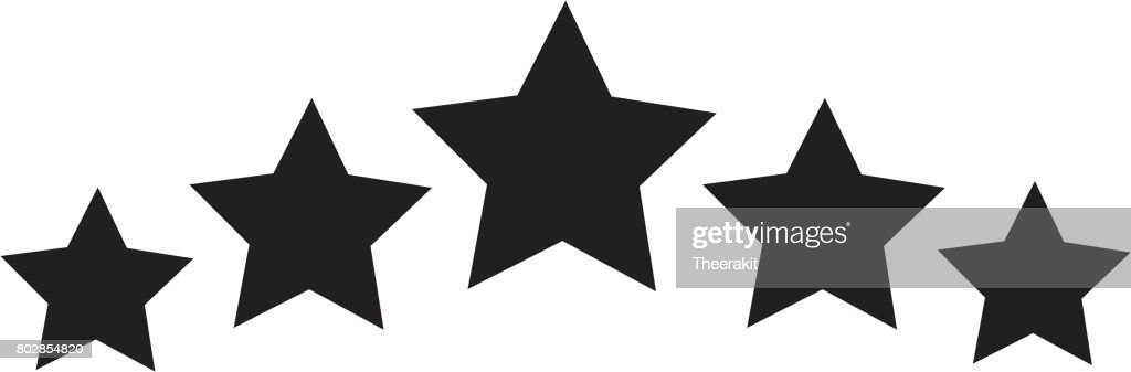 Five Star Icon On White Background 5 Star Sign Vector Art Getty Images