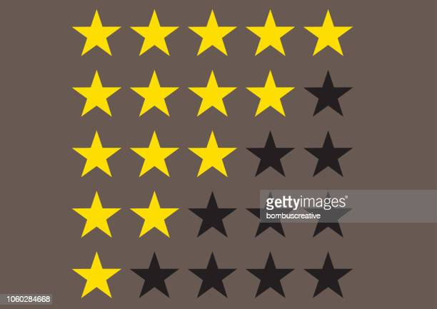 five star ranking icons - validation stock illustrations, clip art, cartoons, & icons