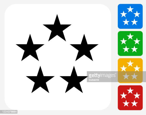 five star rating icon - vip stock illustrations