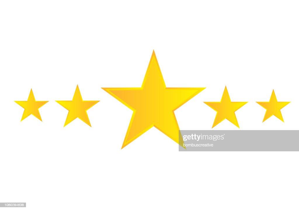 Five Star : stock illustration