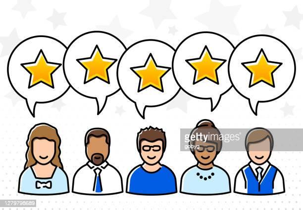 5つ星の顧客評価ストックイラスト - ファーストクラス点のイラスト素材/クリップアート素材/マンガ素材/アイコン素材