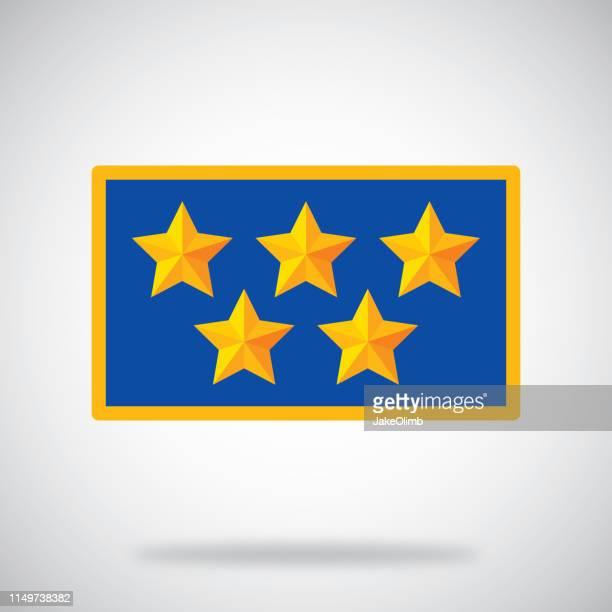 Five Stars Icon Flat