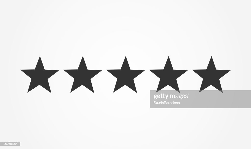 Five stars rating icon