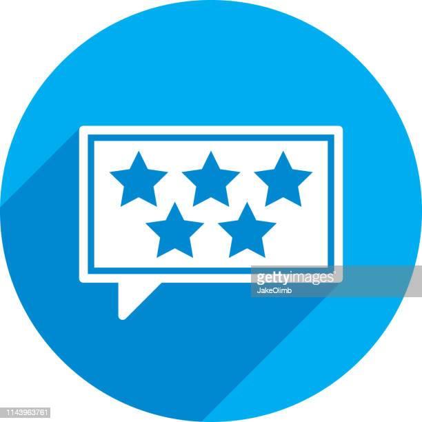 Five Stars Speech Bubble Icon Silhouette