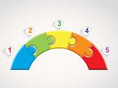 Five steps puzzle bridge