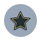 five-pointed star icon in badge style. One of web collection icon can be used for UI, UX