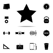 five-pointed star icon. web icons universal set for web and mobile