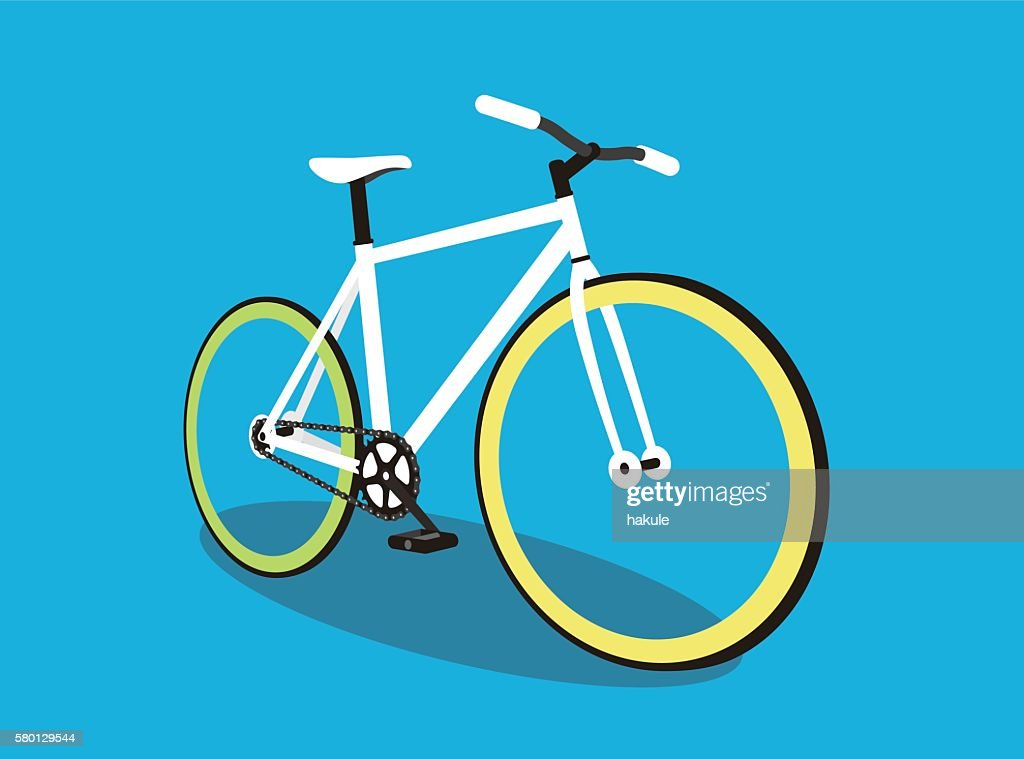 fixed-gear bicycle, vector illustration