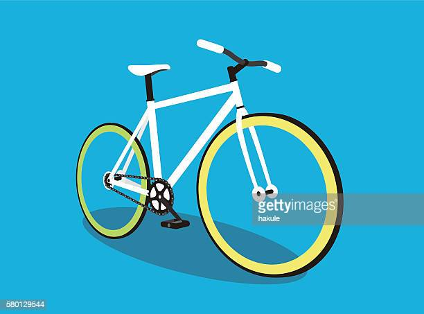fixed-gear bicycle, vector illustration - bicycle stock illustrations