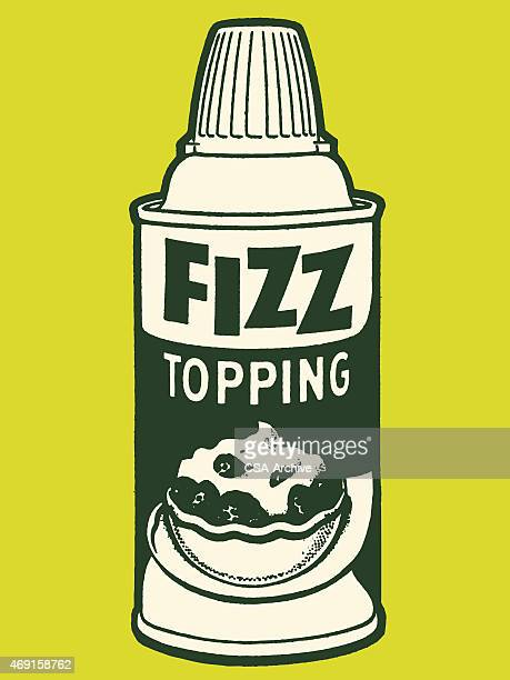 fizzed whipped topping - whipped cream stock illustrations, clip art, cartoons, & icons