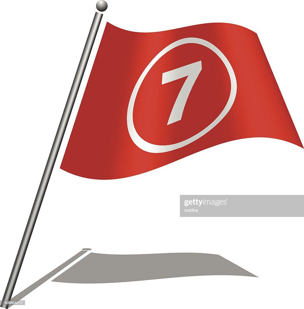 Bandeira Alfabeto letra 7 : Arte vetorial