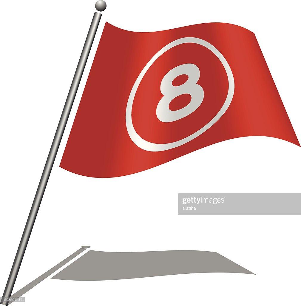 Bandera alfabeto letras 8 : Arte vectorial
