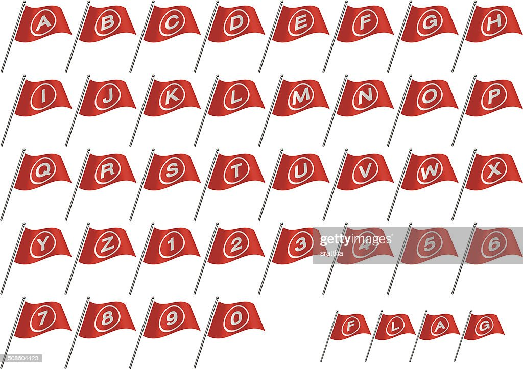 Flag Alphabet Font A-Z : Vector Art
