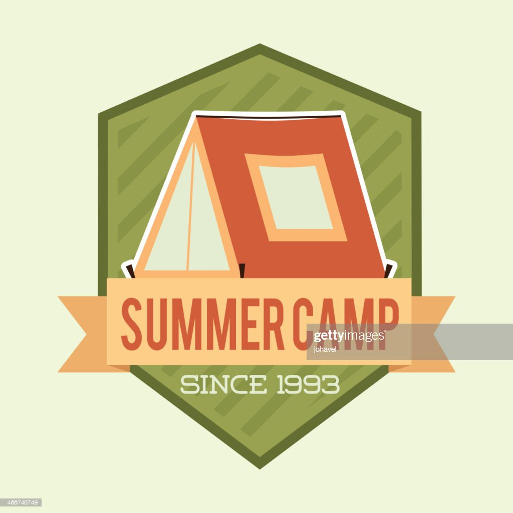 Flag and logo of summer camp since 1993