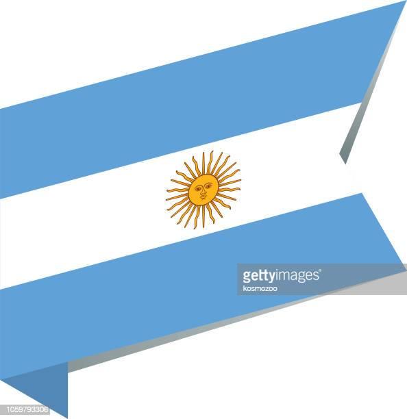 ilustraciones, imágenes clip art, dibujos animados e iconos de stock de bandera argentina - bandera argentina