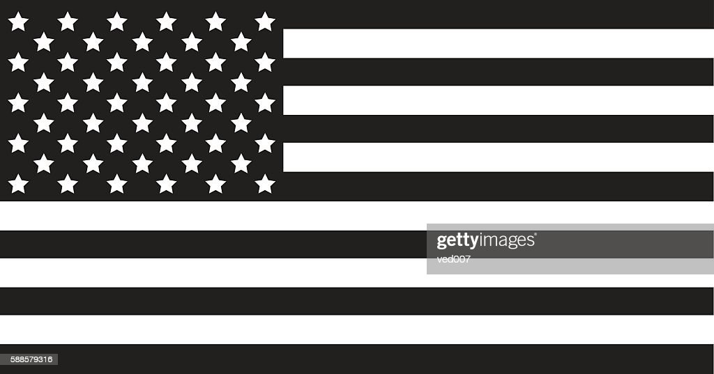 USA Flag Black