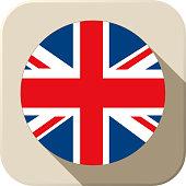 UK Flag Button Icon Modern