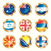 Flag buttons mix set