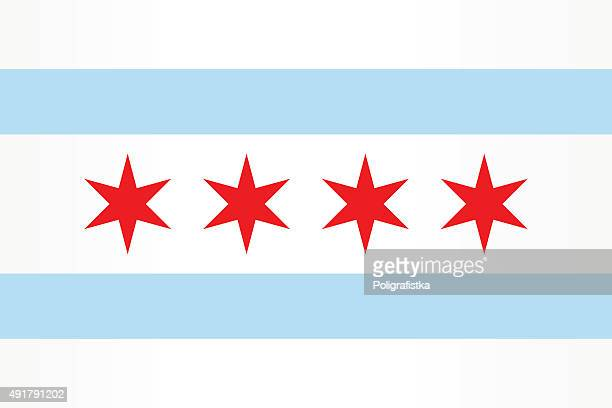 flag chicago - flag stock illustrations
