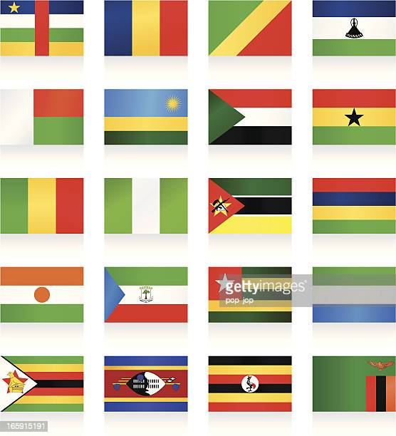 flag collection - africa - zimbabwe stock illustrations, clip art, cartoons, & icons