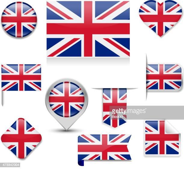 illustrations, cliparts, dessins animés et icônes de collection de drapeau du royaume-uni - drapeau anglais
