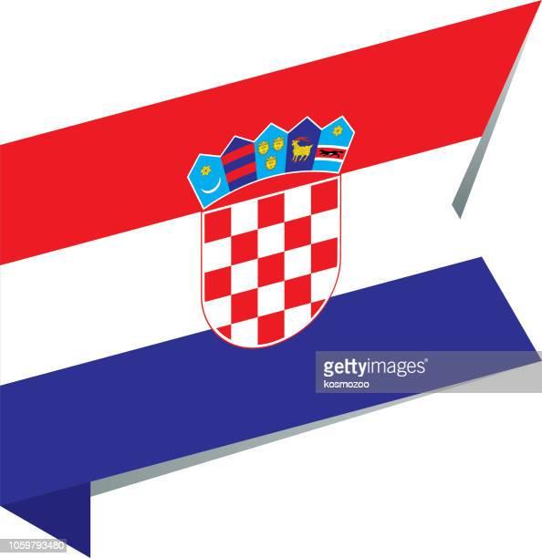 flag croatia - croatian flag stock illustrations, clip art, cartoons, & icons