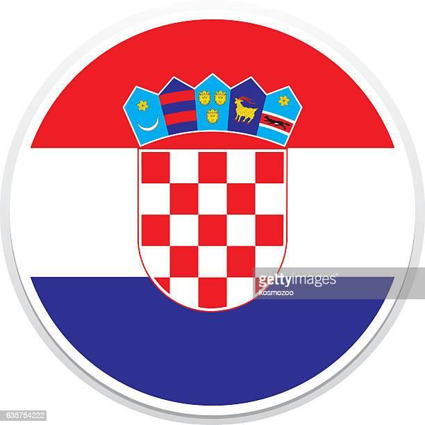 flag croatia - croatia stock illustrations, clip art, cartoons, & icons