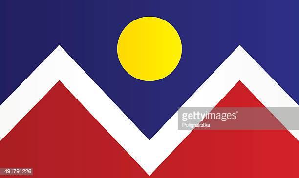 flag denver - colorido stock illustrations