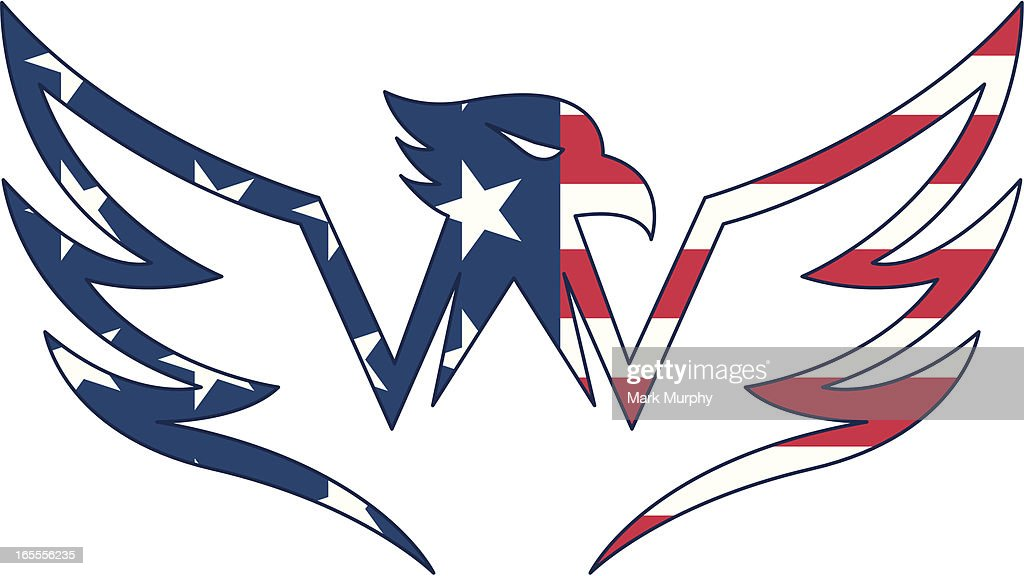 usa flag eagle logo vector art getty images