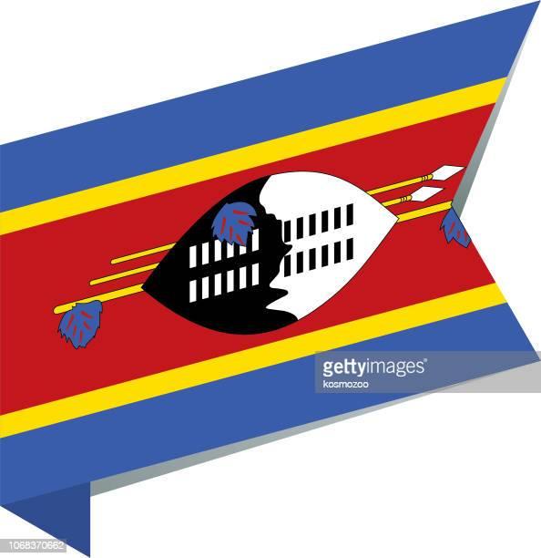flag eswatini - eswatini stock illustrations, clip art, cartoons, & icons