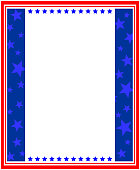USA flag frame template