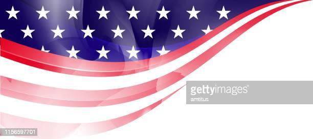 us flag frame - corner stock illustrations