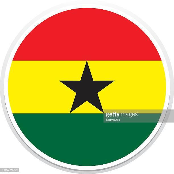flag ghana - ghana stock illustrations, clip art, cartoons, & icons