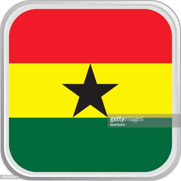 flag ghana - ghana stock illustrations, clip art, cartoons, & icons