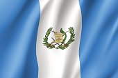 Flag Guatemala realistic icon