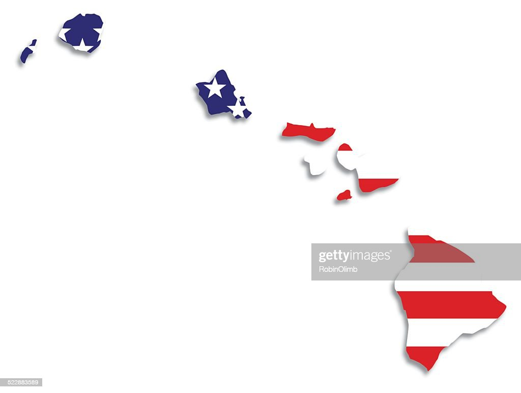 Usa Flag Hawaii Map Vector Art Getty Images